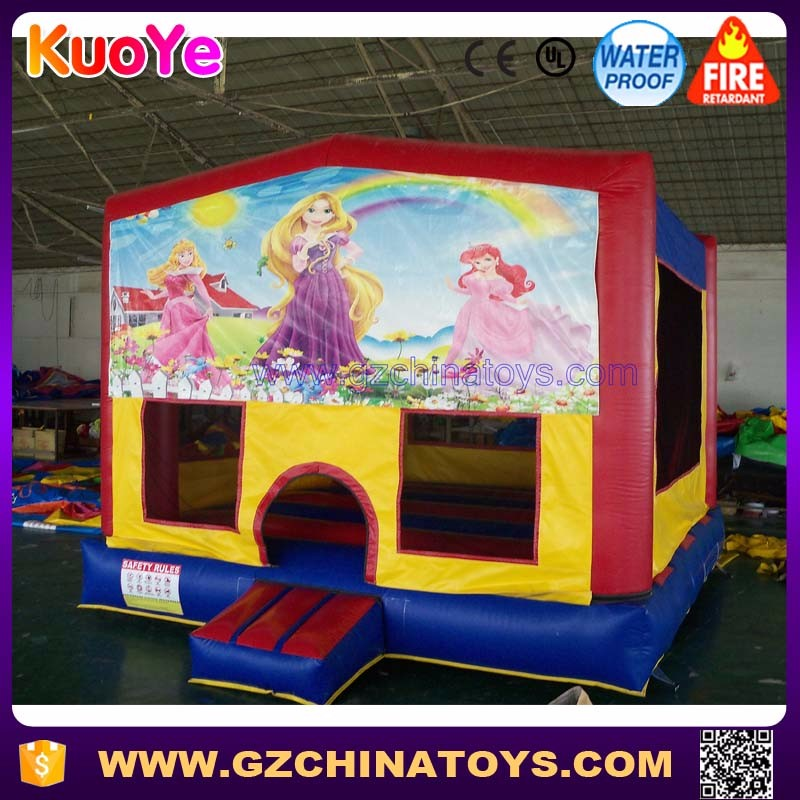 Commercial custom banner moonwalk jumpers inflatable bounce house for party rental