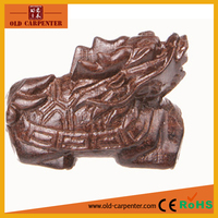 Chinese Money Bringing Dragon and Turtle decorative animal wood carving