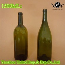 Wholesale 1.5 liter glass bottle for wine