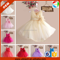 the lastest v-neck design Little girls dream princess tulle laceflower skirt