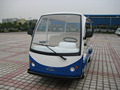 Hot sale sturdy chinese electric shuttle bus tourist mini bus