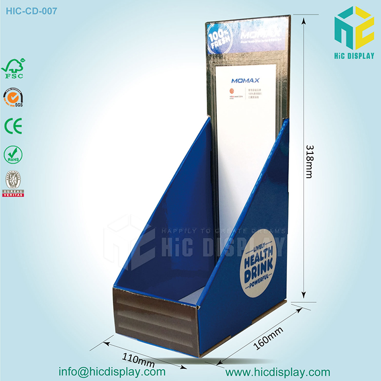folding corrugated cardboard counter tabletop display stand