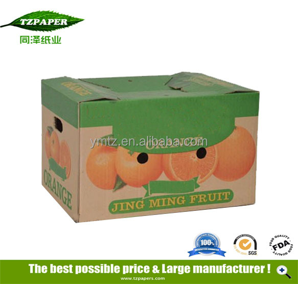 Promotion Custom Printed Roun Craft Paper Box Paper Green Vegetable And Fruit Paper Box