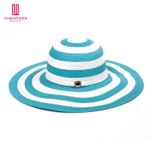 cw1609 Floppy Wide Brim Sunbonnet custom 3d embroidery kids straw hats Wholesale beach straw hat