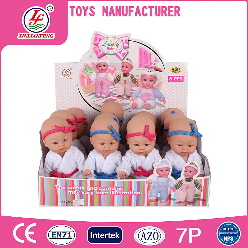 Sample free 6 inch baby doll in display box