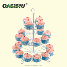 High Quality Online Shopping mental Cupcake Stand / Customized 3Tiers flower shape Cake Display