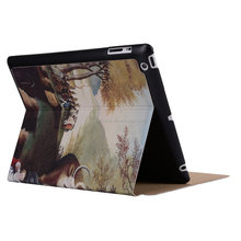 cheap price color printing leather case for ipad 3,for ipad 2/3/4 leather case cover,for ipad case leather case