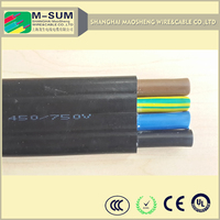 PVC/Rubber Insulation 3cores or 4cores 50sq mm waterproof oil resistant cold resistant flat submersible pump cable UL Approved