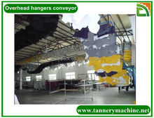 leather tannery hooking conveyor for dried rabbit skins