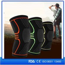 Alibaba Online Shopping Knit Elastic Nylon Silicone Non-Slip Compression Knee Sleeve Wraps Support for Sports Running Jogging