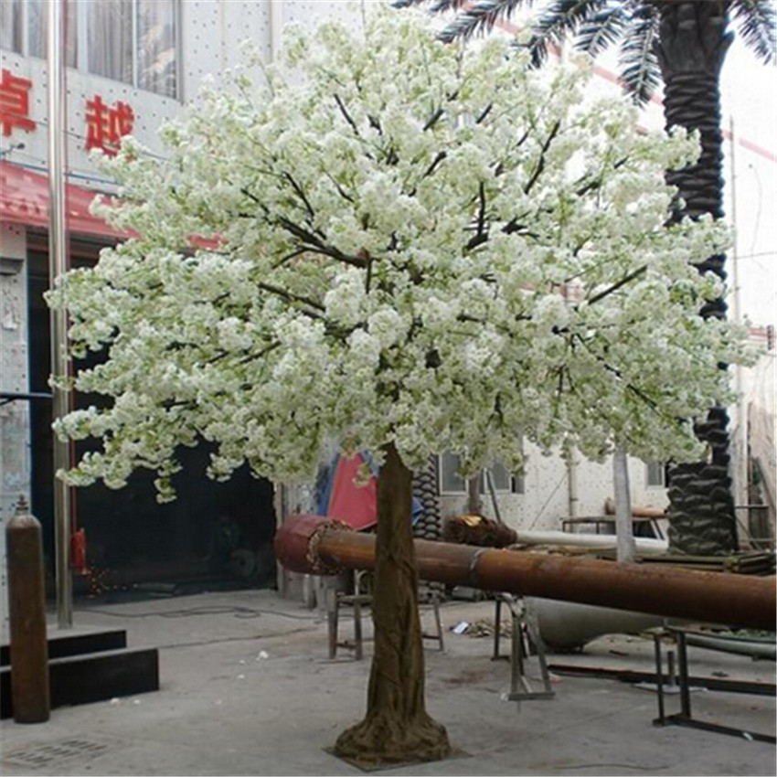 White Artificial Silk Cherry blossom Tree