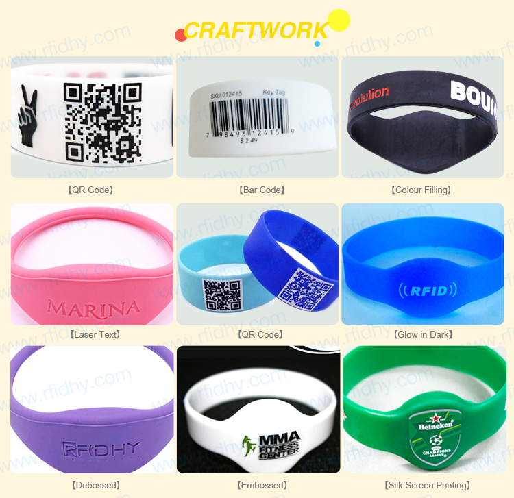 HYWGJ03 RFID Wrist Band with Ntag213 chip for Fitness Club