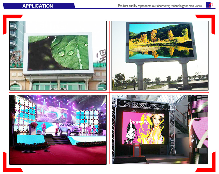 Shenzhen rental use full color high brightness p10 outdoor led display in alibaba
