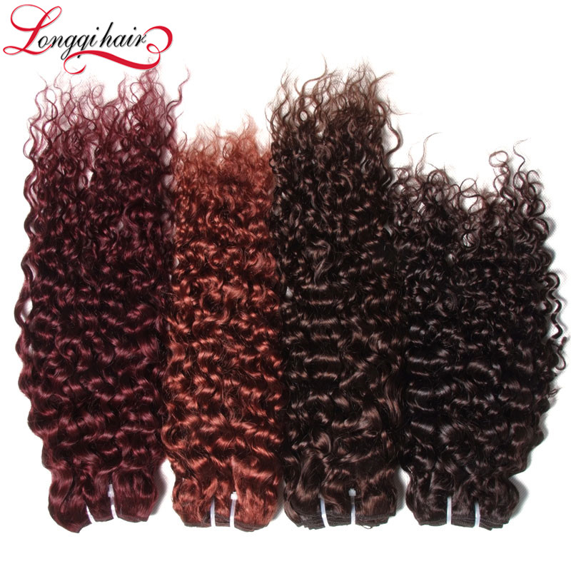Multi-Colored Hair Extensions Wholesale Cambodian Jerry Curl Human Hair Weave