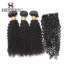 Wholesale 8A Kinky Curly Malaysian Hair Extension, Human Hair Weaving with 4x4 Lace Closure