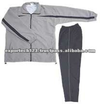 Adult Gray Polyester Micro Peach Track suit