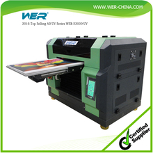 Reasonable price A3 size WER E2000UV mobile power bank printing machine