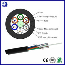 2 core,4core,12core,24 core single mode Stranded Loose Tube Non-metallic Strength Member Non-armored fiber optic cable GYFTY