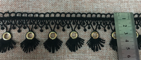 embroidery lace trim with metal gromments water soluble lace