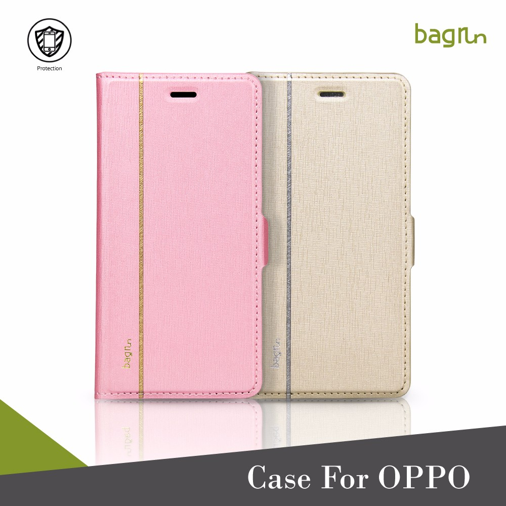 Customized PU Leather Mobile Phone Case For OPPO A57