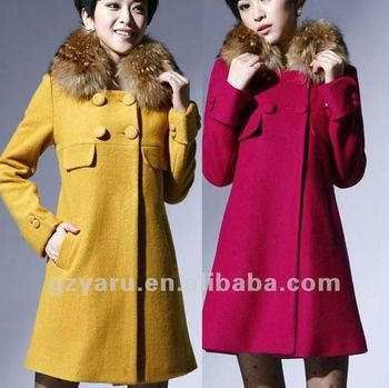 women coat with fur fashion 2012 2013 model and skirt dress ladies down cashmere