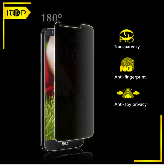 Mobile Phone Protective Anti-spy Privacy Film High Clear Screen Protector for lg g2