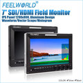 Feelworld 7 inch 1280x800 high resolution broadcast monitor with HDMI SDI Tally A7