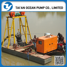 portable river sand extraction sucking dredge machine