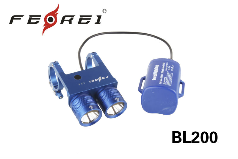 Ultimate Blue version 2014 New twin-head bicycle light, cree led bike light