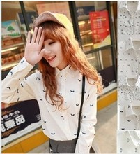 D60819A KOREAN VERSION OF THE NEW AUTUMN AND WINTER BEARD CUBS VARIETY OF PATTERNS TOWER PRINT COTTON SHIRT