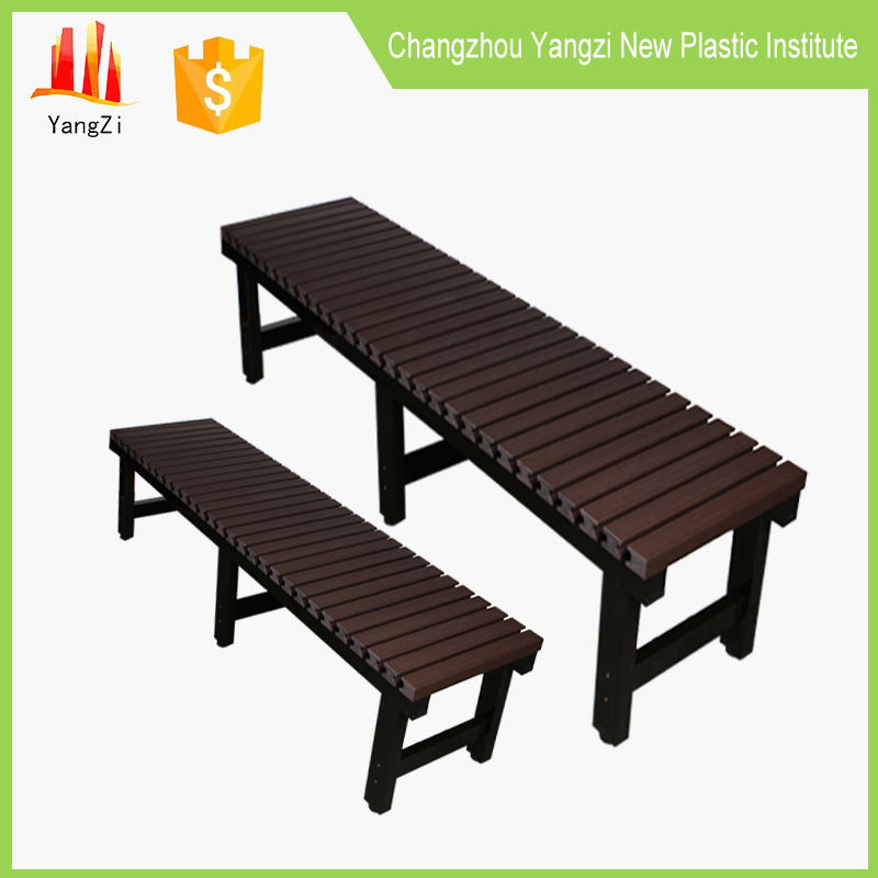 Wholesale plastic slats stainless steel park bench seat