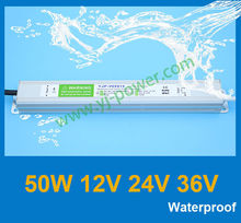 outdoor waterproof electronic led driver 50w with output 12v 24v 36v approved RoHS,CE-EMC,CE-LVD,IP67