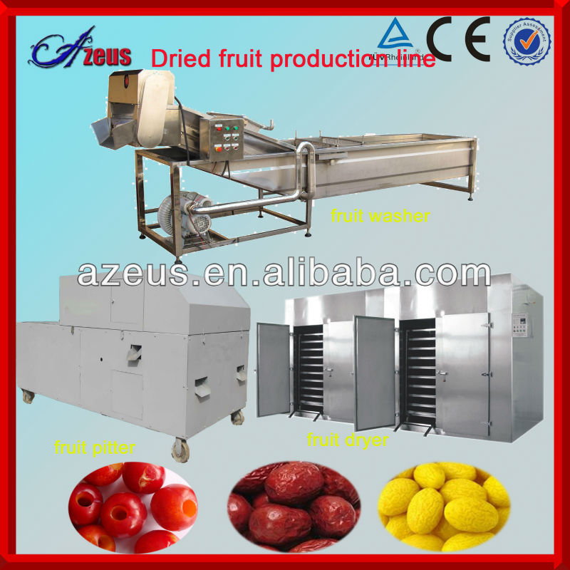 Multi-functional dates fruit processing machine fruit pulp processing line
