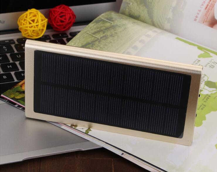 Super Thin Solar Mobile Phone Power Supply 20000 Ma Smartphone Charger Multi-Function Power Bank