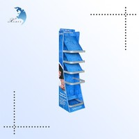 Supermarket fashion rotating pegboard Acrylic display stand for cell phone accessory