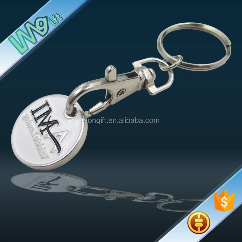 Coin Key Ring Trolley Token Metal Holder Coin Keychain