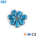 guojie brand Wholesale chaton tear Shape synthetic rough diamond For Clothing Accessory Crystal Zirconia