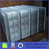 Welded wire mesh panels for fence