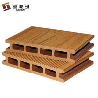 SGB 145x21mm anti-UV Hollow recycled WPC outdoor park walkway decking