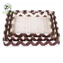 High quality factory direct sale wire bread storage paper rattan baskets