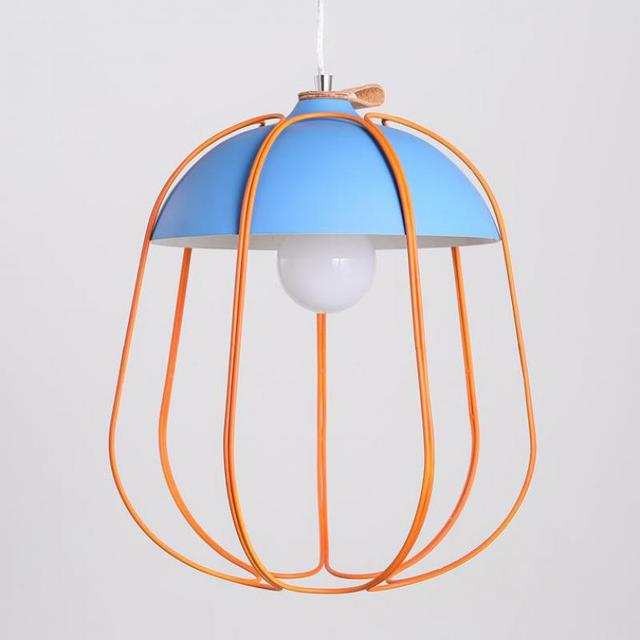 Modern Simple Style pendant light with Single Head Cage Net for Dining Room Living Room lighting fixture