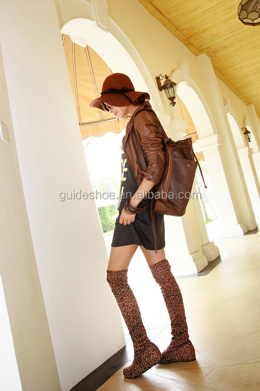 Wholesale flat thigh high boots for ladies pretty woman boots
