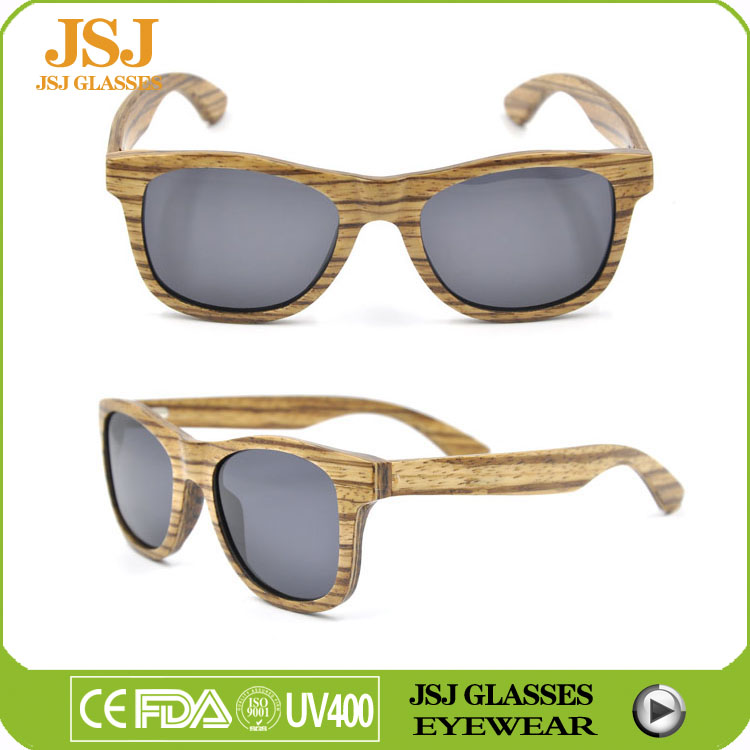 CE Retro Wood Sun Glasses Frame Brand, Hot Sale Italian Wood Sunglasses UV400