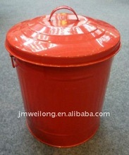 Galvanized metal garbage bin/Trash can/ Ash can