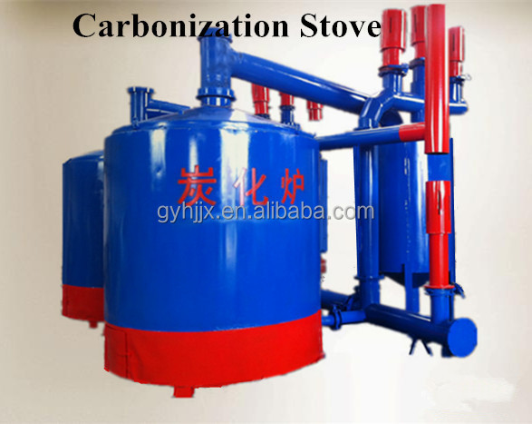 Retort type commercial bbq charcoal making stove/kiln