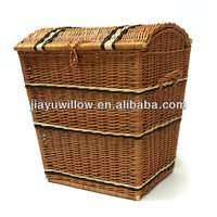 Natural willow Laundry Basket with cover