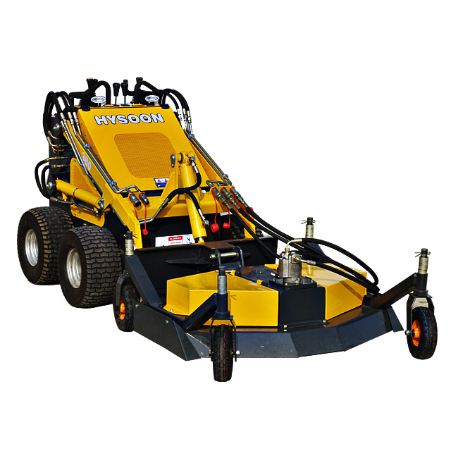 Skid steer grass mower attachments for mini loader