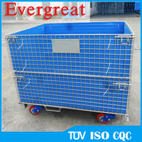metal pallet cage customized warehouse storage container