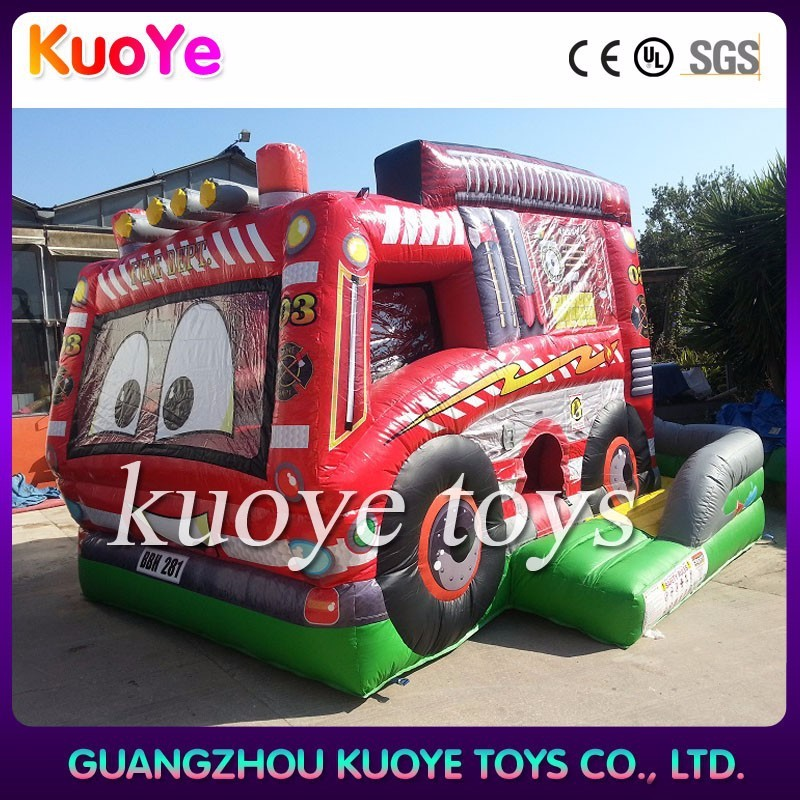 fire truck inflatable jumper bounce inflatable bouncer toddlers air bouncer with roof