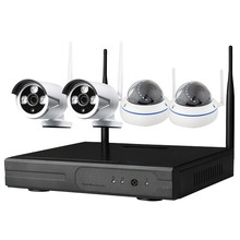 Popular HD 720P/ 960P/ 1080P Waterproof IP Camera 4channel wireless cheap nvr kit